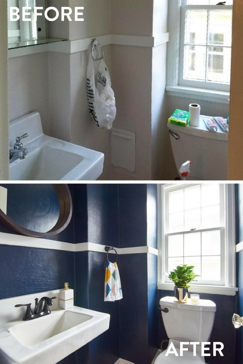 Go Big in Small Spaces: Why Dark and Bold is a Good Choice for a Tiny Bathroom