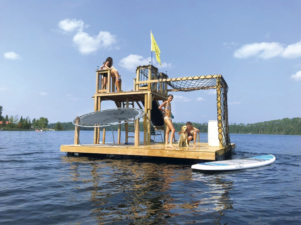 This Dad's DIY Tarzan Raft Sets a New Standard For Fun On The Water
